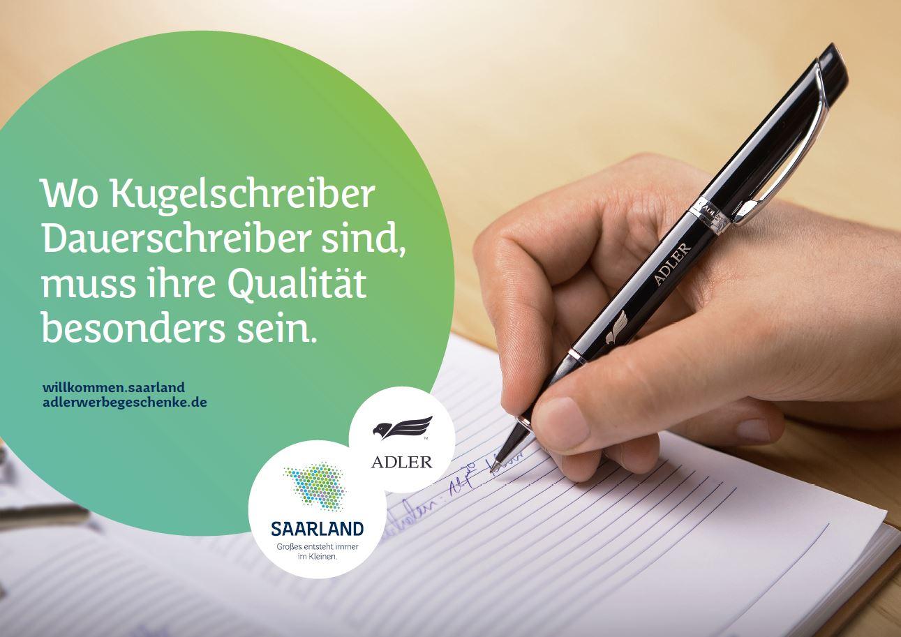 ADLER Werbegeschenke: Wo Kugelschreiber Dauerschreiber sind, muss ihre Qualität besonders sein.